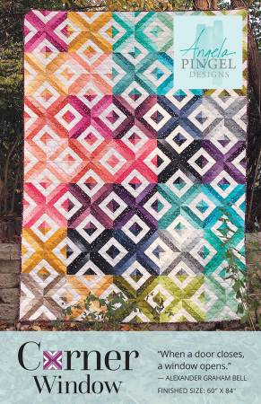Corner Window quilt pattern by Angela Pingel