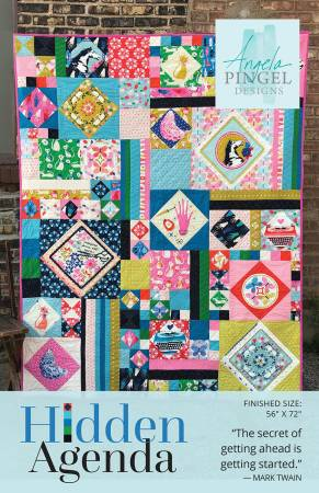 Hidden Agenda quilt pattern by Angela Pingel