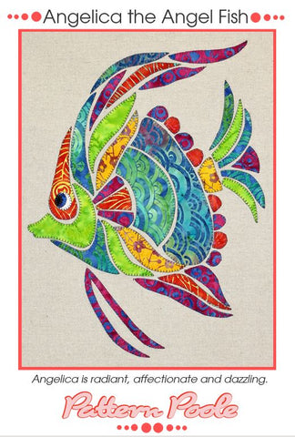 Angelica the Angel Fish quilt pattern by Monica & Alaura Poole
