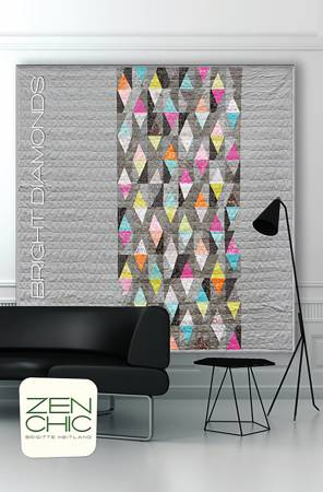 Bright Diamonds quilt pattern by Brigitte Heitland/Zen Chic