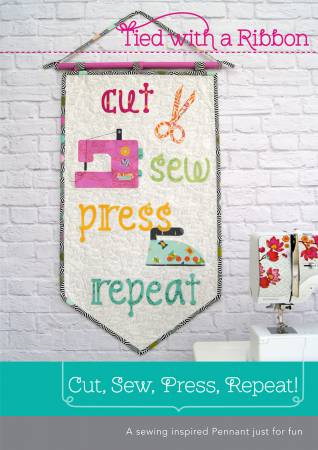 Cut, Sew, Press, Repeat Pennant pattern by Jemima Flendt - The Quilter's Bazaar