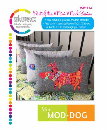 Mini Mod Dog (pillow pattern) by Linda & Carl Sullivan for Colorwerx