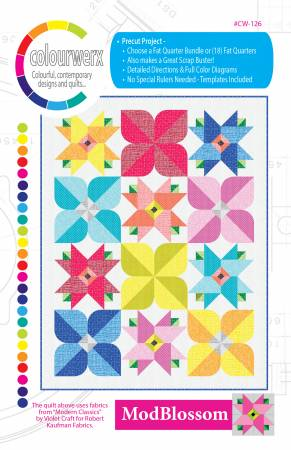 Mod Blossom quilt pattern by Colourwerx