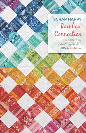 Scrap Happy Rainbow Connection quilt pattern by Amy Smart