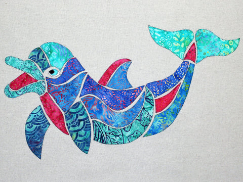 Dolly the Dolphin quilt pattern by Monica & Alaura Poole