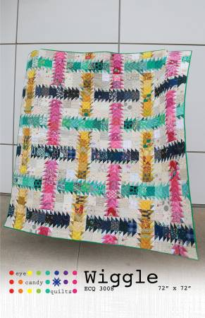 Wiggle quilt pattern by Eye Candy Quilts