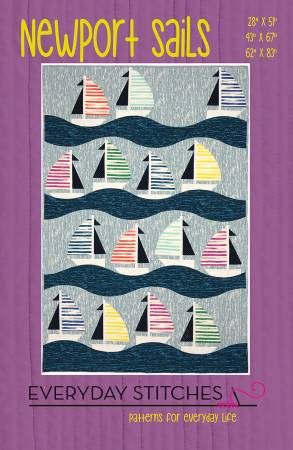 Newport Sails quilt pattern by Everyday Stitches