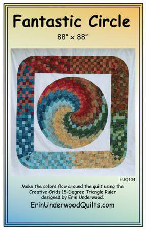 Fan-Tastic Circle quilt pattern by Erin Underwood