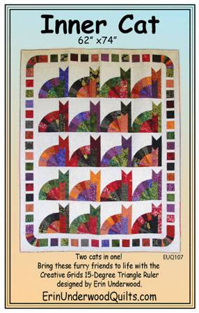 Inner Cat quilt pattern by Erin Underwood