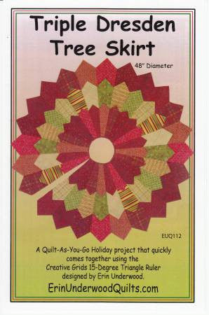 Triple Dresden Tree Skirt quilt pattern by Erin Underwood