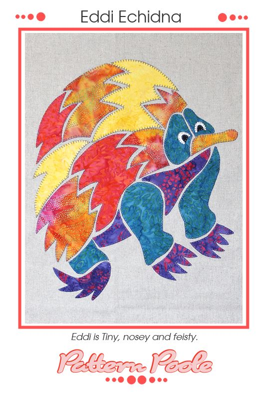 Eddi Echidna quilt pattern by Monica & Alaura Poole