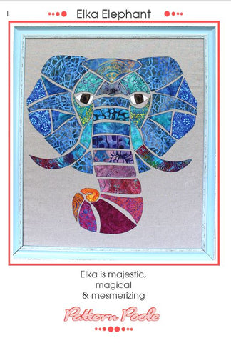 Elka Elephant quilt pattern by Monica & Alaura Poole
