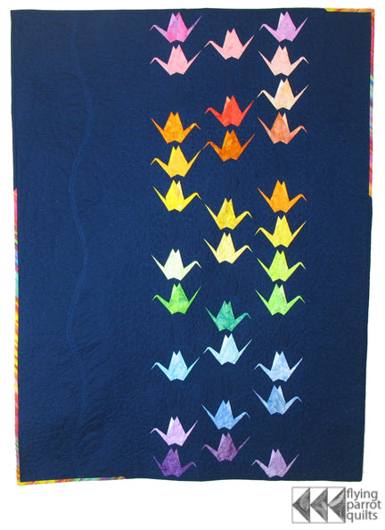 Paper Cranes quilt pattern by Sylvia Schaefer
