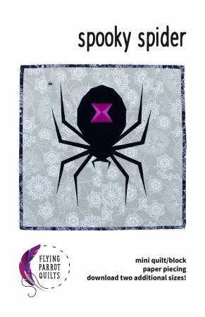 Spooky Spider quilt pattern by Sylvia Schaefer