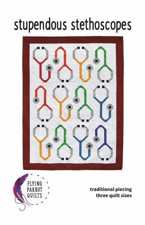 Stupendous Stethoscopes quilt pattern by Sylvia Schaefer