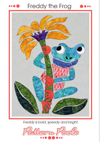 Freddy the Frog quilt pattern by Monica & Alaura Poole