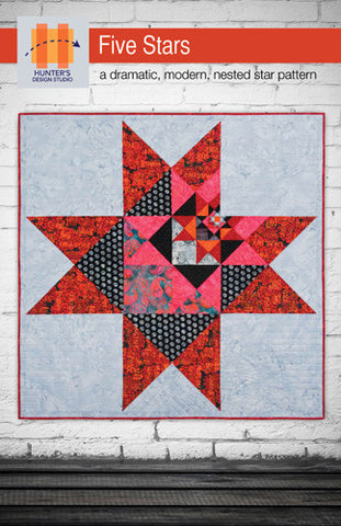 Five Stars quilt pattern by Sam Hunter