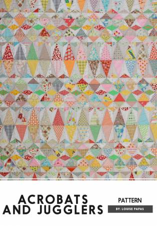 Acrobats and Jugglers quilt pattern by Louise Papas for Jen Kingwell Designs
