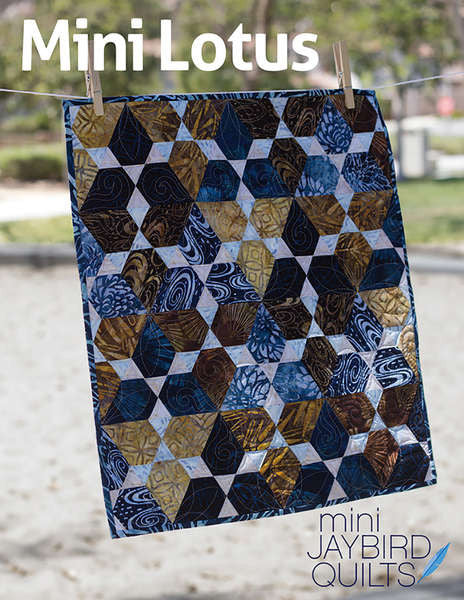Mini Lotus quilt pattern by Julie Herman