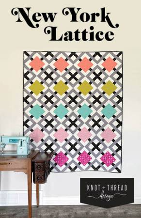 New York Lattice quilt pattern by Kaitlyn Howell