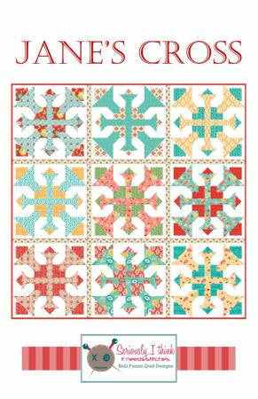 Jane's Cross quilt pattern by Kelli Fannin