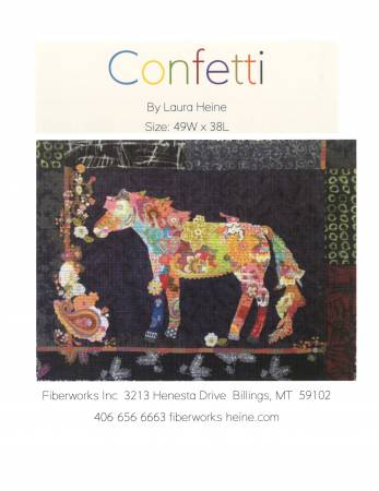 Confetti Horse Collage quilt pattern by Laura Heine - The Quilter's Bazaar