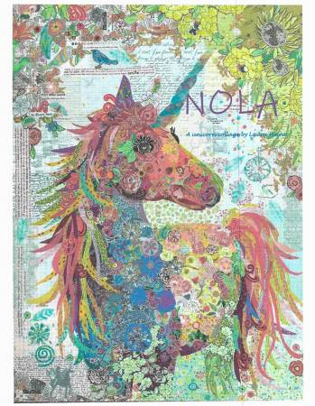 Nola A Unicorn quilt pattern by Laura Heine