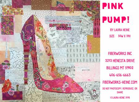 Pink Pump Collage quilt pattern by Laura Heine