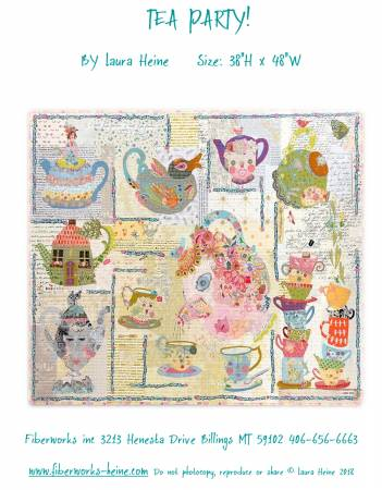 Tea Party Collage quilt pattern by Laura Heine