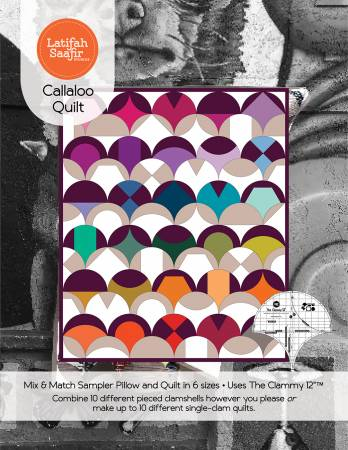 Calllaloo Quilt Block of the Month With 12in Clammy by Latifah Saafir