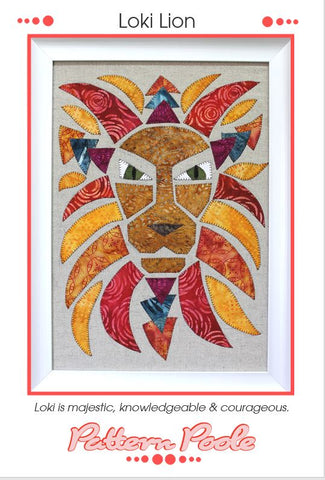 Loki Lion quilt pattern by Monica & Alaura Poole