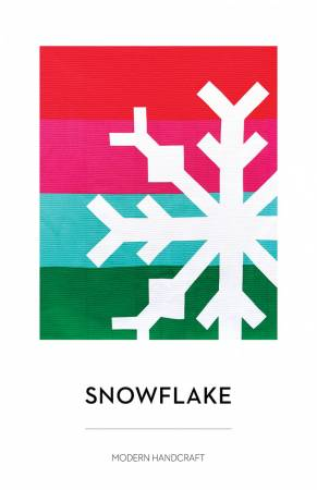 Snowflake quilt pattern by Nicole Daksiewicz for Modern Handcraft