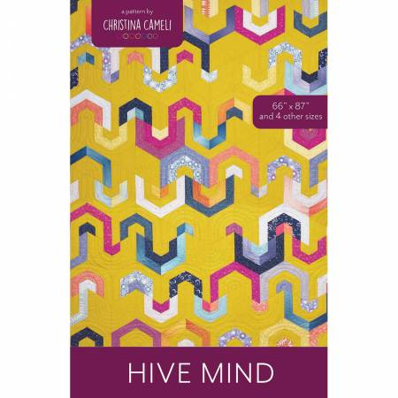 Hive Mind quilt pattern by Christina Cameli