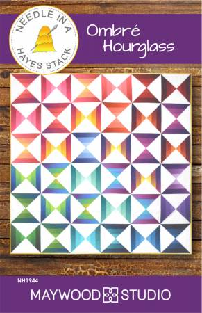 Ombre Hourglass quilt pattern by Tiffany Hayes