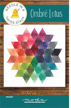 Ombre Lotus quilt pattern by Tiffany Hayes