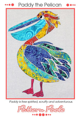 Paddy the Pelican quilt pattern by Monica & Alaura Poole