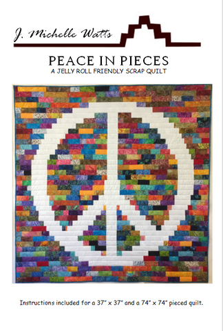 Peace in Pieces quilt pattern by J Michelle Watts