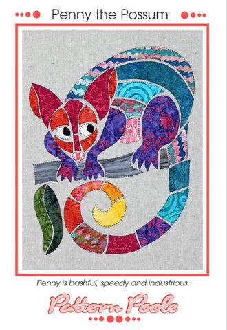 Penny the Possum quilt pattern by Monica & Alaura Poole