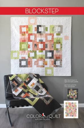 Blockstep quilt pattern by Robin Pickens