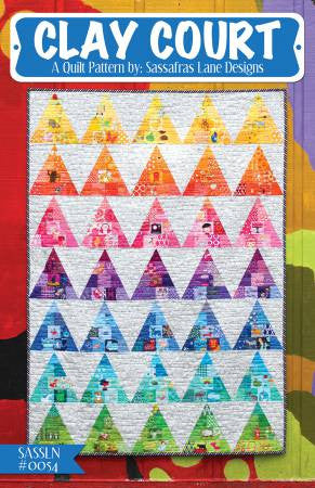 Clay Court quilt pattern by Shayla Wolf & Kristy Wolf
