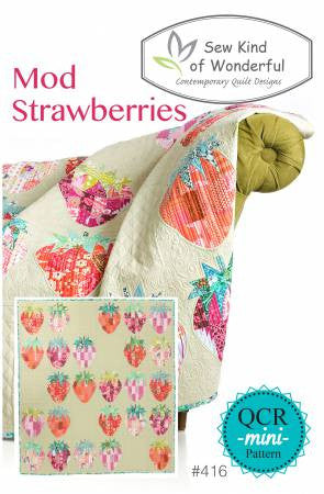 Mod Strawberries quilt pattern