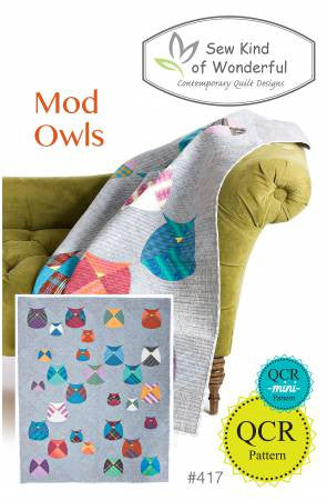 Mod Owls quilt pattern by Sew Kind of Wonderful