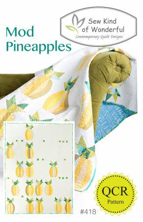 Mod Pineapples quilt pattern by Sew Kind of Wonderful