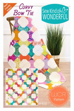 Curvy Bow Tie quilt pattern by Kimbra Lovgren for Sew Kind of Wonderful