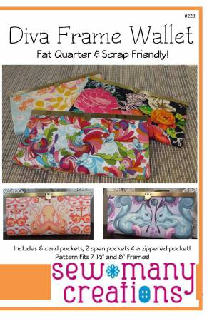 Diva Frame Wallet pattern by Jessica VanDenburg