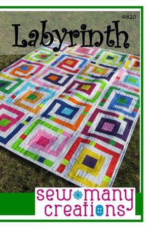 Labyrinth quilt pattern by Sew Many Creations
