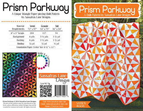 Prism Parkway quilt pattern by Shayla Wolf & Kristy Wolf