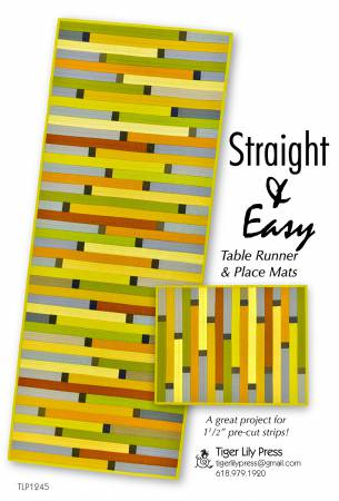 Straight & Easy Table Runner and Place Mats