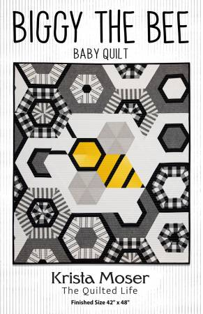 Biggy The Bee Baby Quilt pattern by Krista Mosher