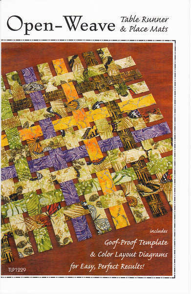 Open Weave Table Runner quilt pattern by Nicole Kaya